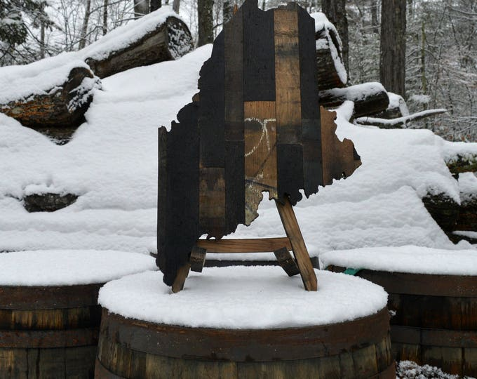 Maine State Whiskey Barrel Cut Out