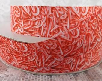 Candy cane ribbon candy ribbon 7/8 candy ribbon peppermint ribbon Christmas ribbon