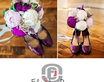 Bridal bouquet,wedding bouquet,paper flower bouquet,peonies pink,bridal flower,bouquet wedding.