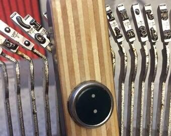 """Vintage """"."""" Period Typewriter Key & Handsanded Plywood"""