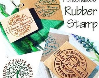 CUSTOM Rubber Stamp, Custom Stamp, Personalised Rubber Stamp, Company Stamp, Business Stamp, Wooden Stamp, Handmade, Craft Business Stamp