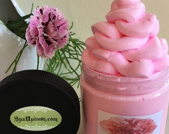 Pink Carnation- Whipped Soap In A Jar-Handmade by SPA Uptown, Vegan