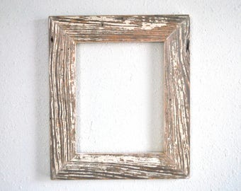 8 x 10 chippy white window trim frame naturally weathered and distressed white reclaimed and re purposed
