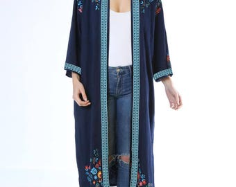 Mexico Night Long Kimono