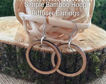 Simple Bamboo Hoop Diffuser Earrings