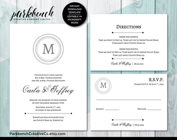 Doc570443 Rsvp Card Template Word DIY Wedding RSVP Template – Rsvp Card Template Word