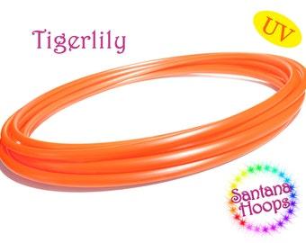 """3/4"""" UV Tigerlily Metallic Orange Polypro Hula Hoop"""