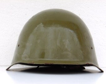Vintage Soldier Helmet - Military Uniform - Army Accessories