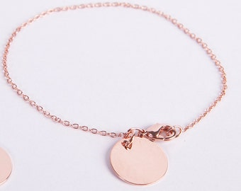 Fine Anklet Rose Golden Disc Coin Chain Rose Gold Plated Ring Rosegolden Jewelry