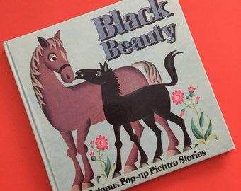 1980 Black Beauty Pop-Up Book- Octopus Pop-Up Picture Stories