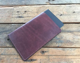 Field Notes Cover - Hand Dyed - Dark Mahogany - Veg Tan Leather - Choice of Thread Colour - Hand Stitched