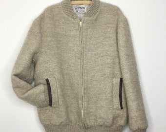 Icelandic wool zip up coat