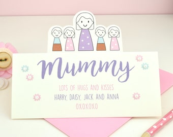 Personalised Mother's Day Card - mother's card - Mummy - Mother's Day