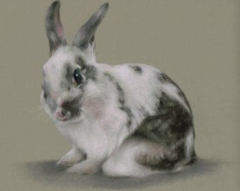 """Easter Bunny Pastel Print 5"""" x 7"""""""