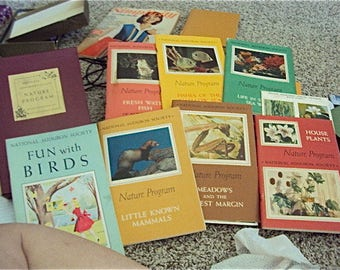 25 Nature Program Books National Audubon Soceity 1953-1962 by National Audubon Society
