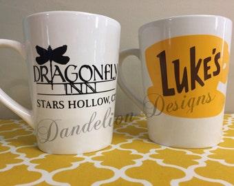Gilmore Girls Coffee Mug Luke's Diner Dragonfly Inn