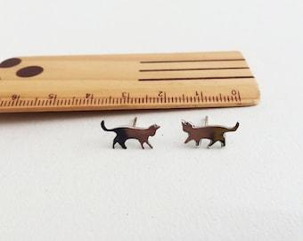 Cat Earrings, cat jewelry, cat stud earrings, cat jewelry, cat lover gift, cute earrings, kitty earring, cat studs, gift for her, cat gift