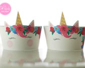 MADE TO ORDER Magical Unicorn Cupcake Wrappers - Set of 12