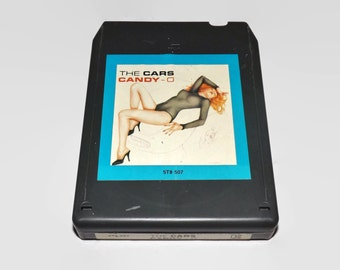 Vintage 8 Track Tape, The Cars - Candy O, 1979, Eight Track, Music, Collectible, Crafting, Elektra Asylum Records