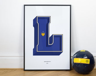 L is for Leicester City, Football Typography Print