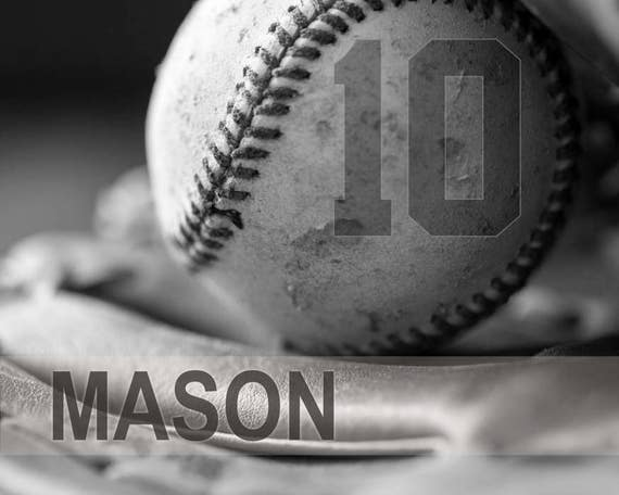 Personalized baseball gifts, Baseball art, Game room art, Baseball gift, Canvas Sports decor, Boys room art, team gifts, Sports // Baseball