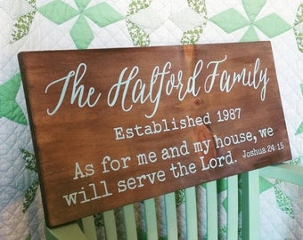 Family Name Sign. Anniversary Gift. Bible Verse Sign. Farmhouse Style Decor. Gallery Wall Art. Rustic Wedding Gift. Bridal Shower Decoration