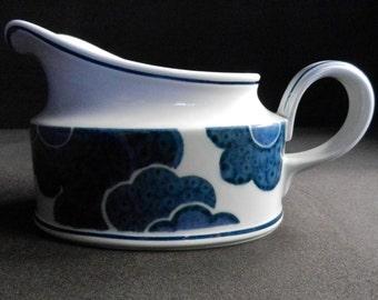 Villeroy & Boch Gravy Boat BLUE CLOUD Vitro-porcelain from the 70s