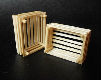 Miniature wooden crate. Wooden small boxes