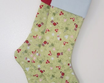 Personalized Christmas Stockings - Nordic Christmas - Winter Stockings - Red Green White - Free Personalization