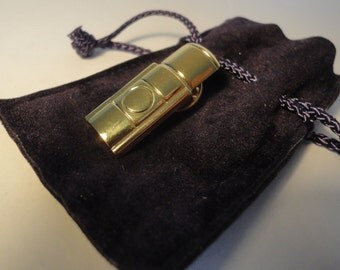 YSL Yves Saint Laurent, Miniature Brooche/Pin Opium Gold Plated