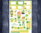 St. Patrick's Day Sampler for Erin Condren life planner or any planner