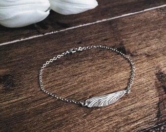 Sterling silver dragonfly wing bracelet, stetling silver bracelet, Mother's Day gift