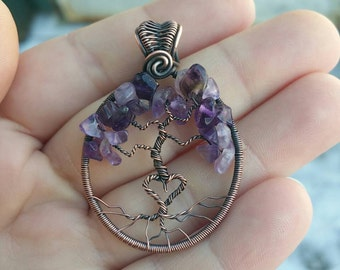 Amethyst Heart Tree, February Birthstone, Tree of Life, Purple
