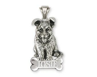 German Shepherd Pendant Jewelry Sterling Silver Handmade Dog Pendant GS19-NP