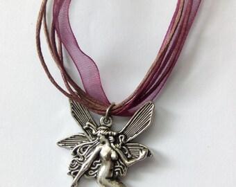 fairy angel organza cord necklace