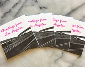 Greetings from Los Angeles Harbor Freeway, Set of 4 Cards with Envelopes