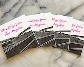 Salutations de Los Angeles Harbor Freeway, Set de 4 cartes avec enveloppes