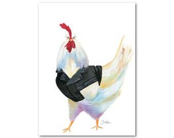 Chicken in a Jacket - 8x10 Fine Art Print