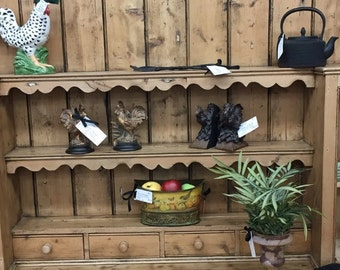 REDUCED! Orig 2100 Sale 1050 Vintage Huge Irish Pine Hutch