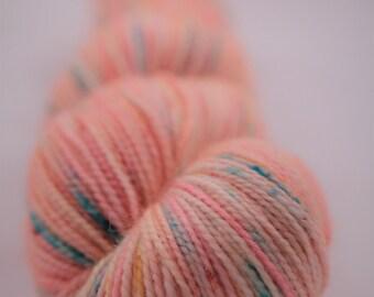Hand-dyed yarn - sock yarn - superwash - merino - dyed-to-order - speckles - ETE