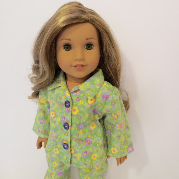 "18"" Doll Clothes - Flannel Pajamas - Made to fit AG and similar 18 inch dolls"