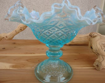 Blue Ruffled Edge Dish