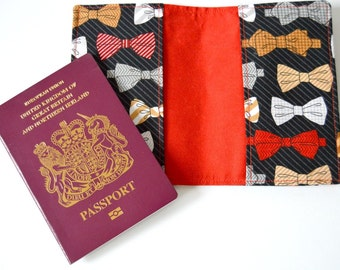 Passport Cover - Fabric - Bow Ties