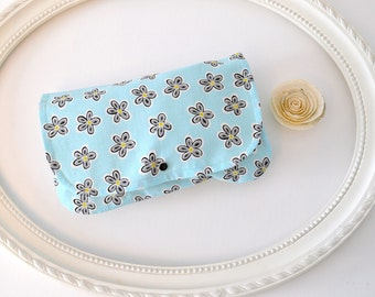 DAISY - Diaper and Wipes case, diaper clutch, wipes case, make up bag, wet bag, envelope clutch