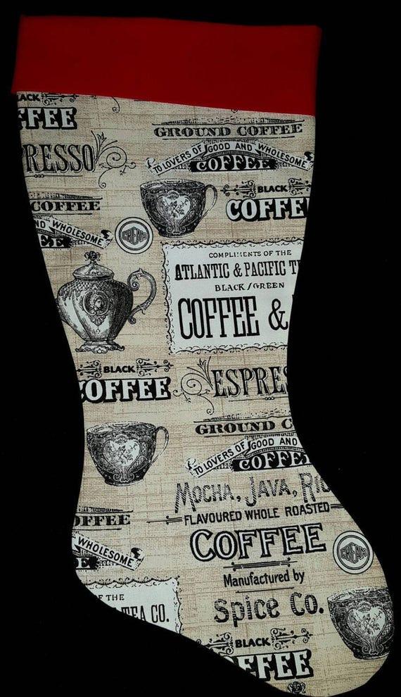 Coffee Christmas Stocking