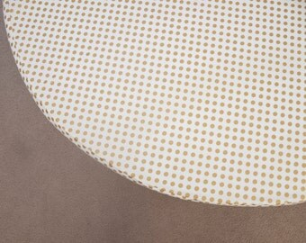 "Round Mattress Fitted Sheet for 42"" Mattress - )Metallic Gold  Polka Dots"