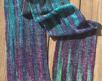 Handwoven Rayon Chenille Scarf Hand Woven Chenille Scarf Gift for him or her