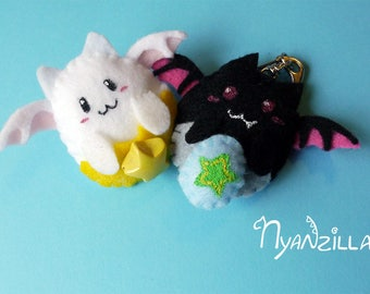 Kawaii Puzzle & Dragons Tamadra and Devitama Felt Plush Clip