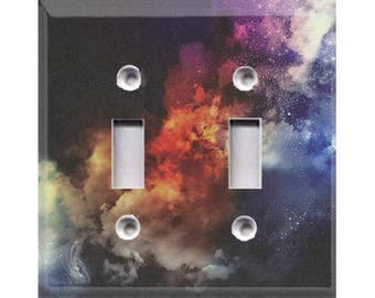 Cosmic Shine Double Light Switch Cover