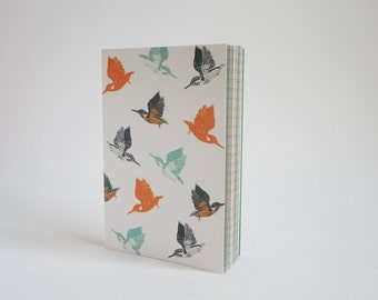 A6 Notebook - Kingfisher print